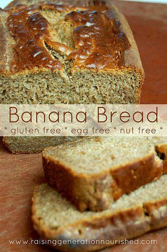 Banana Bread :: Gluten, Egg, Dairy, and Nut Free - Raising Generation Nourished