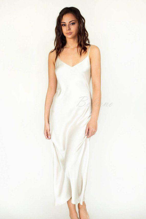 Bridal Silk Slip Dress, Silk Long Slip/ Silk bias Dress/ Silk clothing Nightie, Silk Pajamas, Midi Midnight Chemise Nightgown/Bias Long Gown -   15 dress Silk christmas gifts ideas