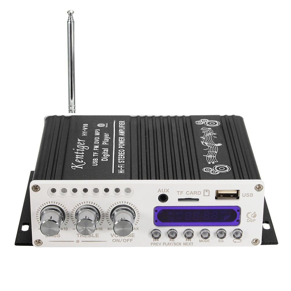 Digital mini bluetooth stereo amplifier black with images