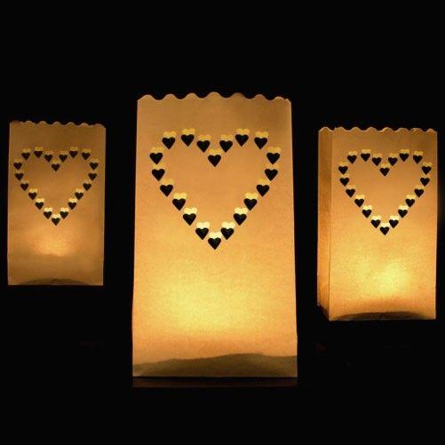 lysposer med hjerter
