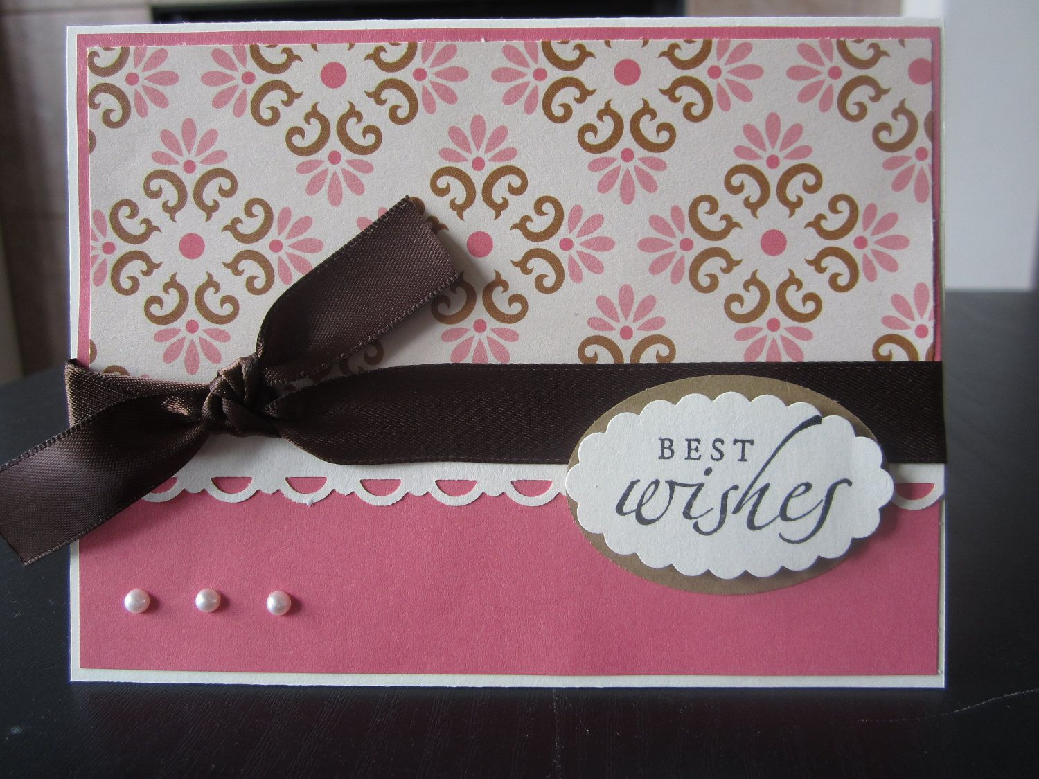 How to scrapbook wedding cards - Best Wishes All Purpose Handmade Greeting Card