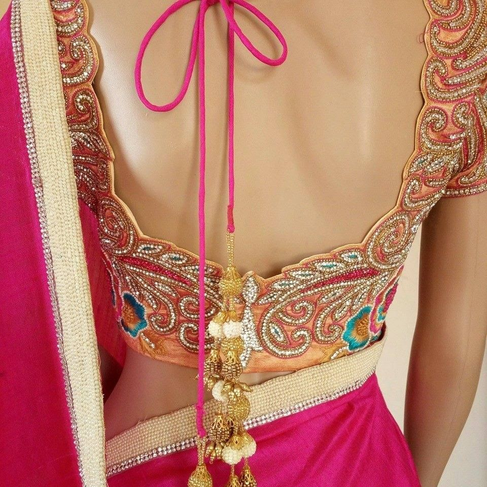 Blouse designs saree blouse back designs blouses neck designs 30 jpg - 29 March 2016 Saree Blouseblouse Designs29