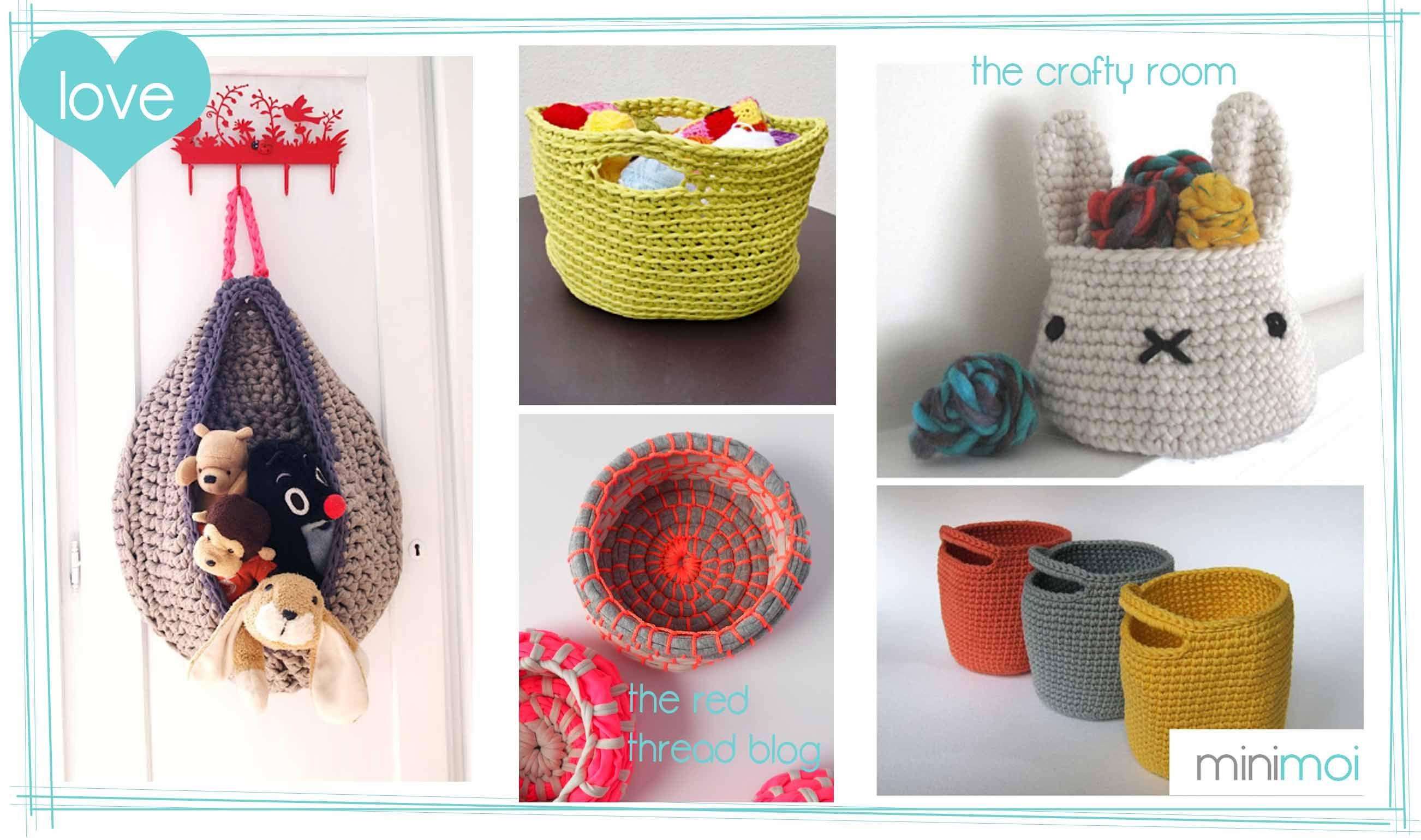 Cesta juguete trapillo simple desing ideas pinterest for Decoracion hogar a crochet