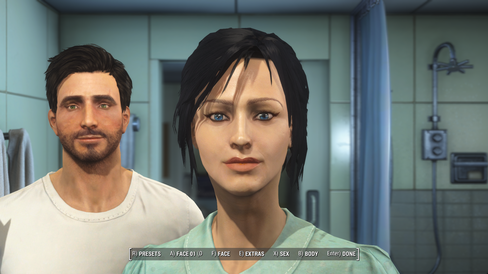 My character presets for the Female and Male Protagonists