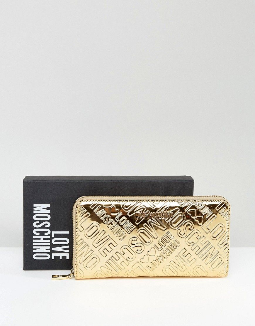 Love Moschino Gold Logo Large Purse | Products | Large ...