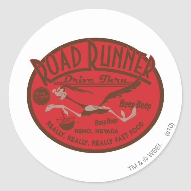Photo of ROAD RUNNER™ Drive Thru 2 Classic Round Sticker
