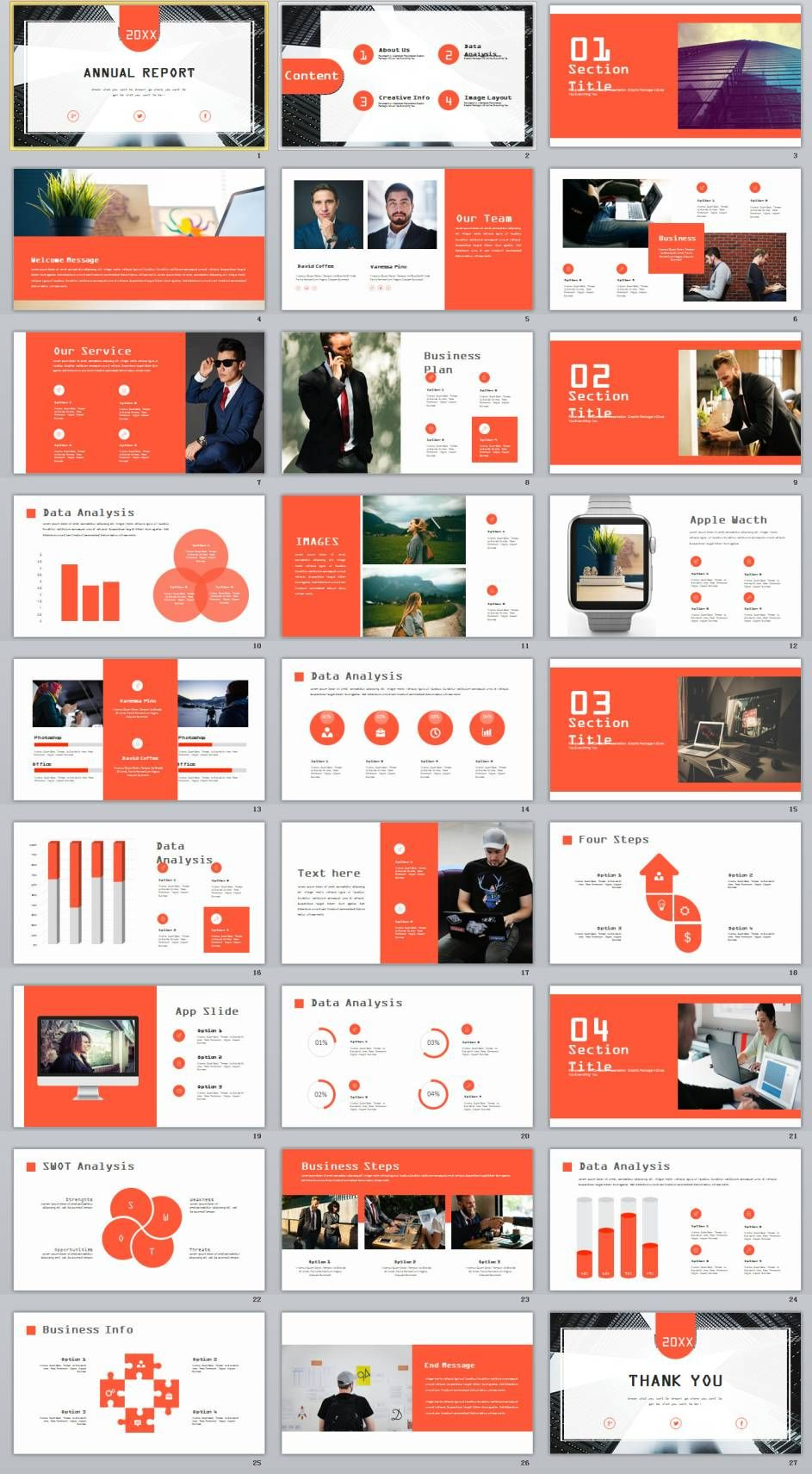 27 creative infographics annual report powerpoint template ppt