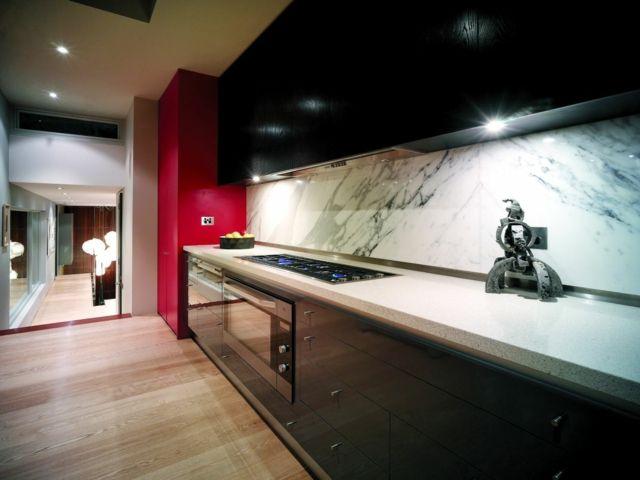 Spritzschutz für Küche – 90 coole Ideen für Küchenrückwand | dom ...