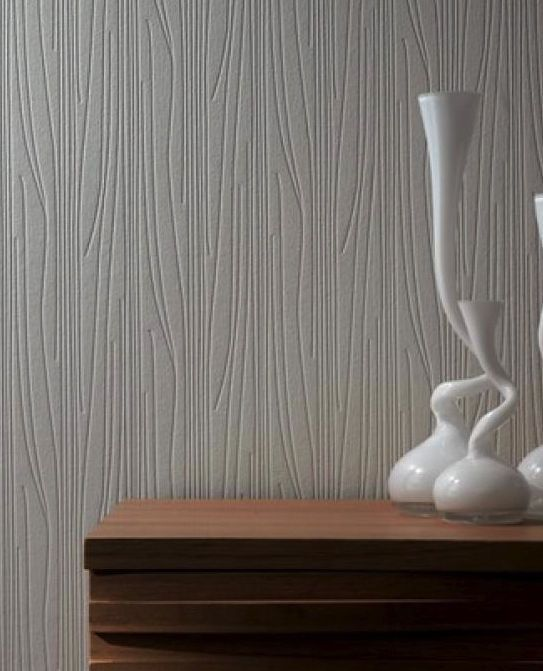 Paintable Wallpaper Kitchen: Contemporary Textured White Paintable Wallpaper