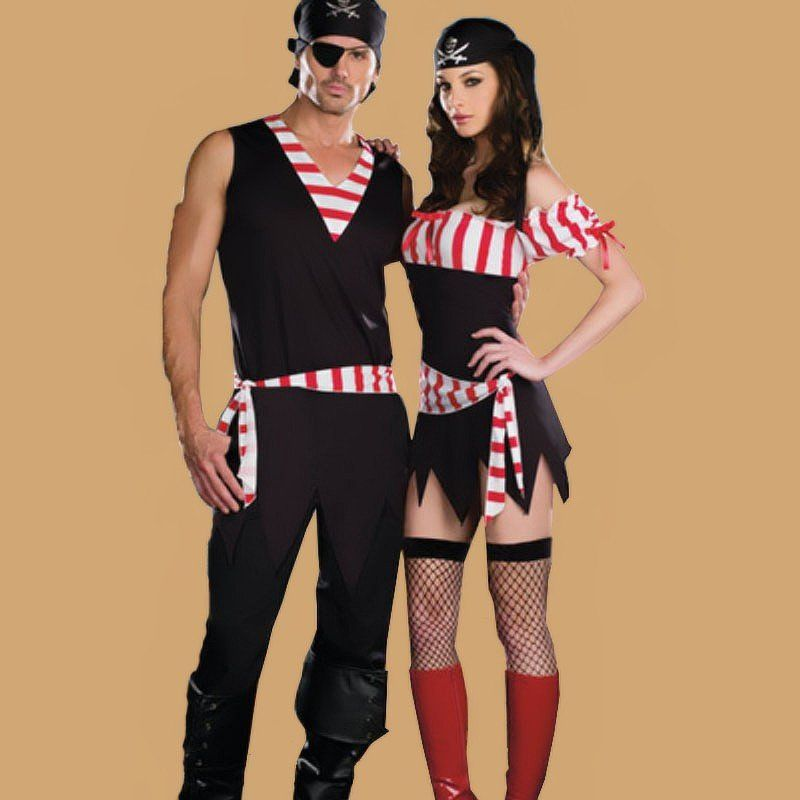 halloween pirate of the caribbean costumes for couple - Mens Couple Halloween Costumes