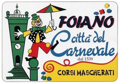 2017 - Feb. 5, Feb. 12, Feb. 19, Feb. 26 and March 5, from noon; in Foiano (Arezzo); this is the 478th edition of the oldest Carnevale in Italy; the four districts of the town compete for the best papier-mâché float; for the first time, there is an area, Carnevalandia, dedicated to children with bounce house, carnival rides, puppets, and Disney parades; free entry.