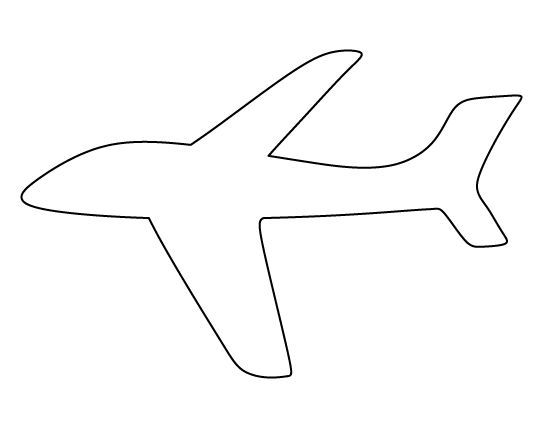 Airplane Pattern Use The Printable Outline For Crafts Creating