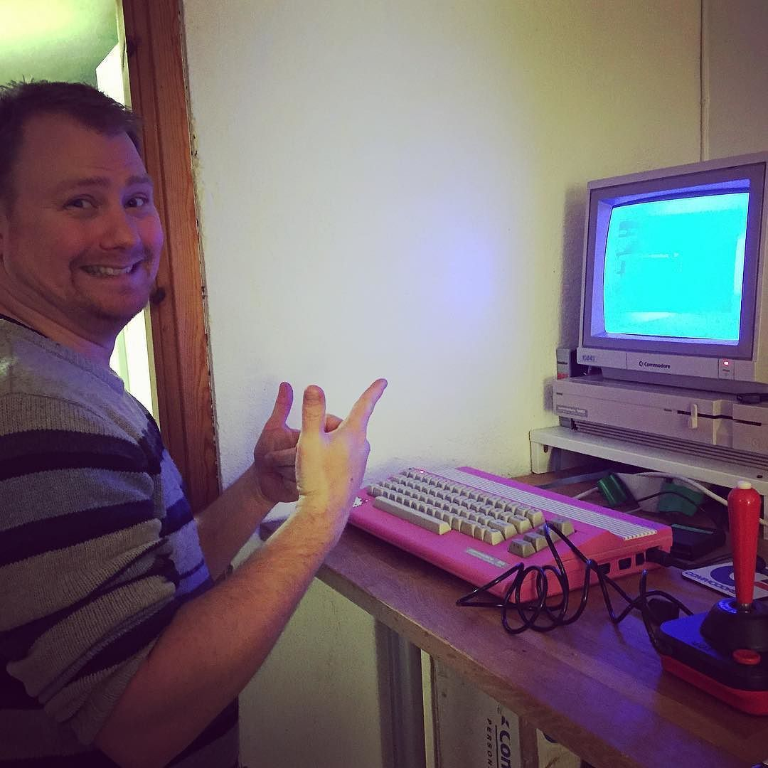 On instagram by retro_gaming #retrogaming #microhobbit (o) http://ift.tt/20Ctoe5 learning about computerz tonight with @davidjacoby now I feel like a total H4XX0R! LOAD$81  #C64 #Commodore #Commodore64 #h4xx #h4xx0r #learningcomputerz #RetroGaming  #RetroGames