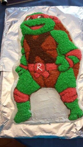 Stupendous Ninja Turtle Cake Wilton Pan With Images Ninja Turtle Cake Personalised Birthday Cards Petedlily Jamesorg