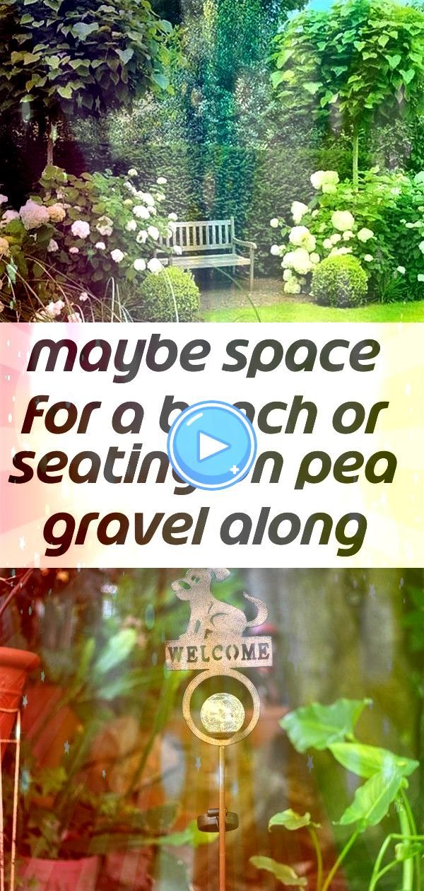 space for a bench or seating on pea gravel along north fence 2 Maybe space for a bench or seating on pea gravel along north fence My Favorite Hello Solar Garden Light Pos...