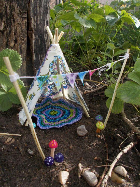 Gnome Garden: Fairy Garden Bohemian Teepee Fairy House Doll By