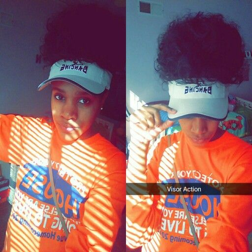 Visors Are Coming Back In Style Looks Cute With Puffs Natural Hair Puff Hair Puff Natural Hair Styles