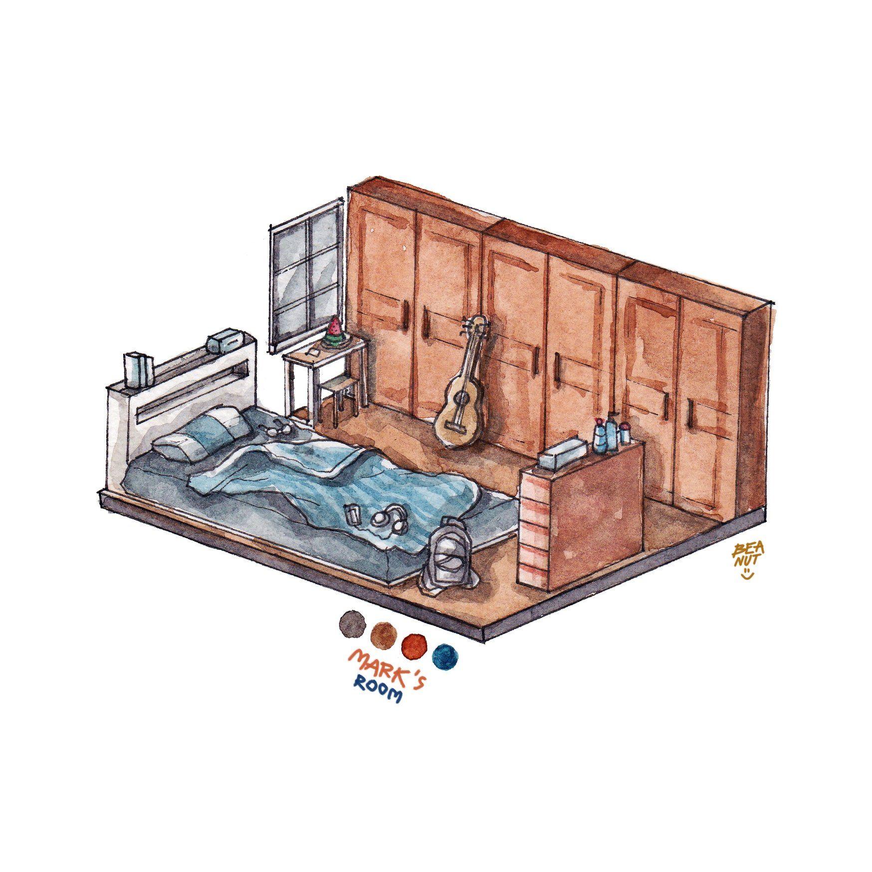 Beanut E13 Nctbacktoschool2020 On Twitter Nct Aesthetic Rooms Room Inspiration Bedroom