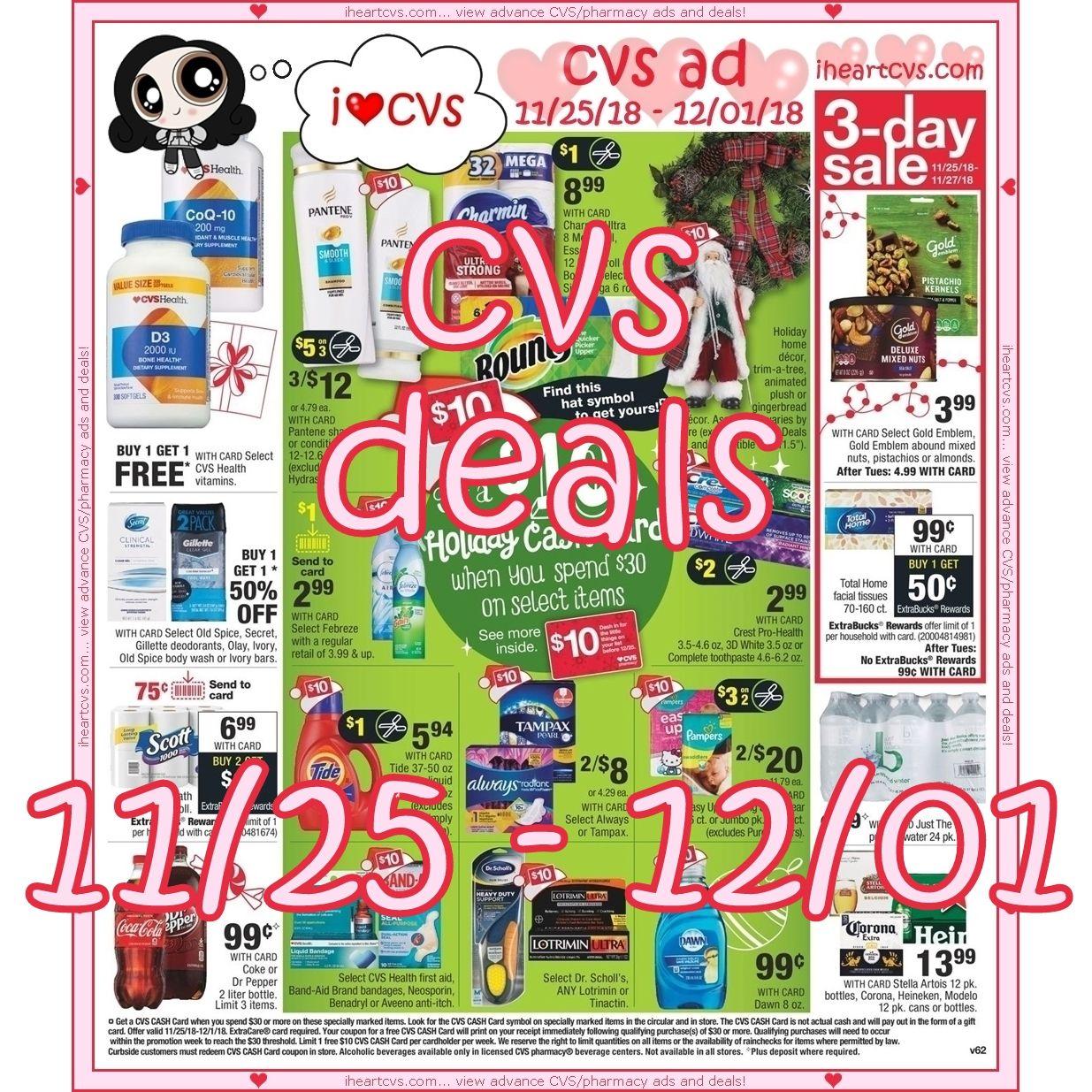 11 25 12 01 Cash Card Charmin Free Deals View advance cvs/pharmacy ads and deals. pinterest