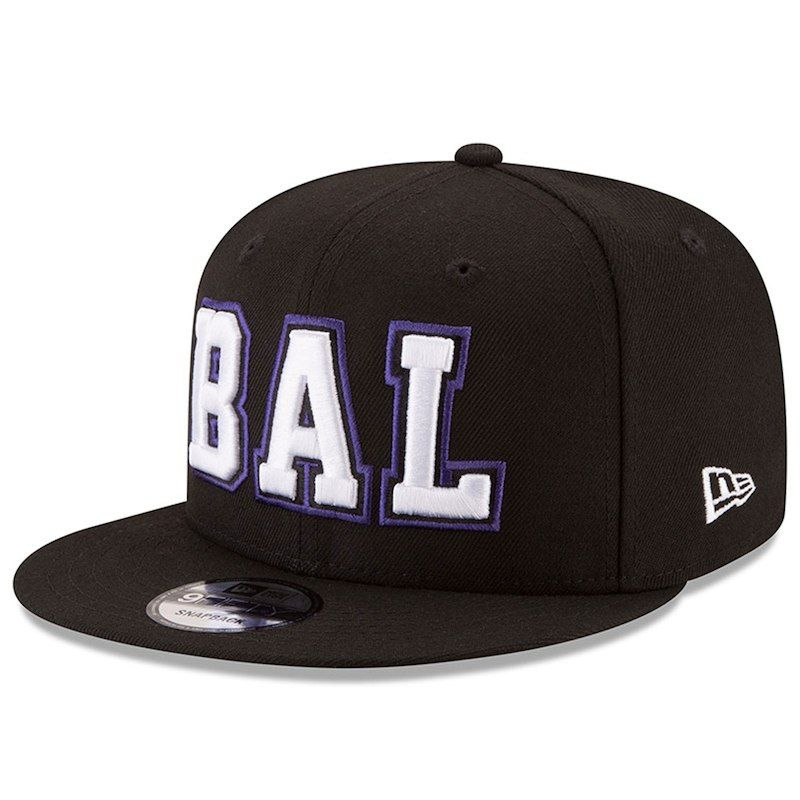 new concept aba9b ee691 Baltimore Ravens New Era Home Turf 9FIFTY Adjustable Snapback Hat - Black