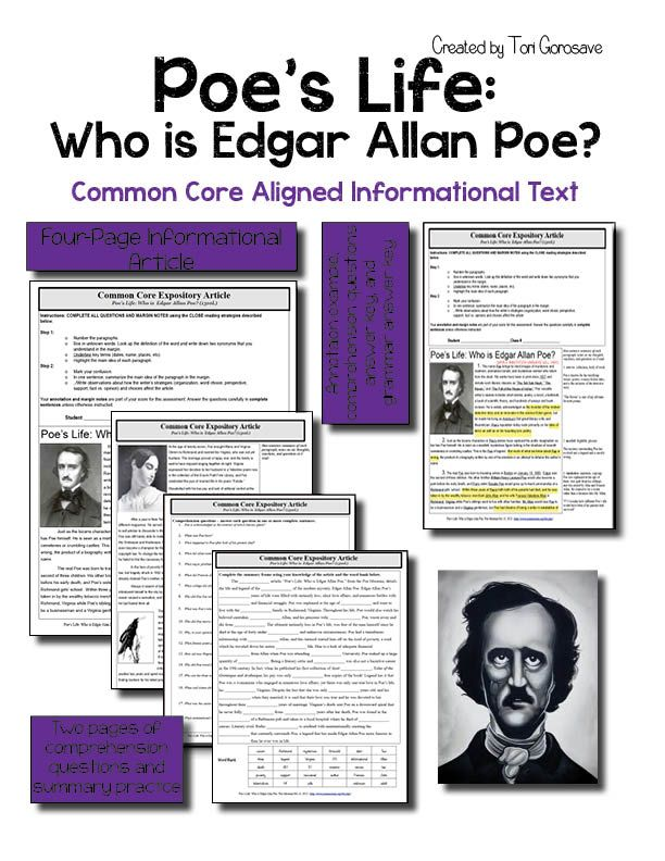 Expository article poes life who was edgar a poe google students ccuart Gallery