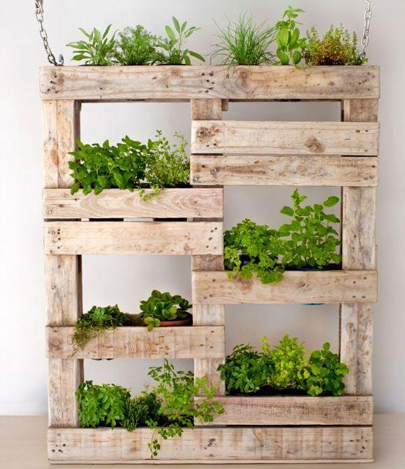 24 DIY Pallet Outdoor Furniture Creations And Big Builds: #13 Hanging DIY  Pallet Planter Box Shelf   Pinterest   Pallet Outdooru2026