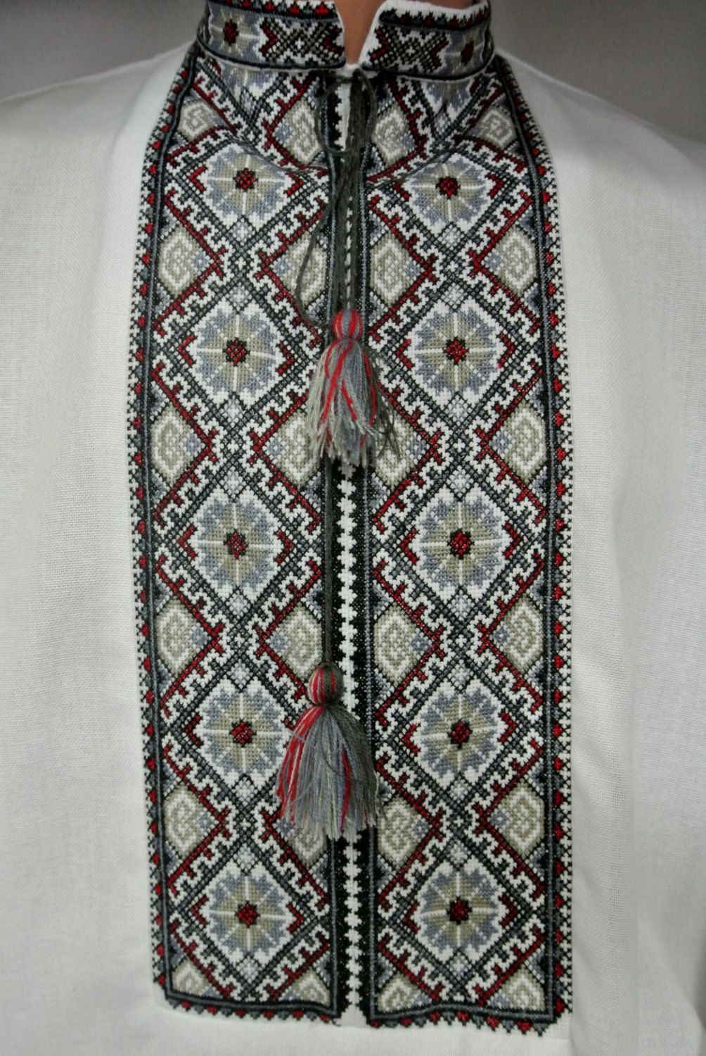 Handmade embroidered dress shirt vyshyvanka for men. With traditional  patterns of Ukrainian embroidery. PLEASE dbb43aa2d
