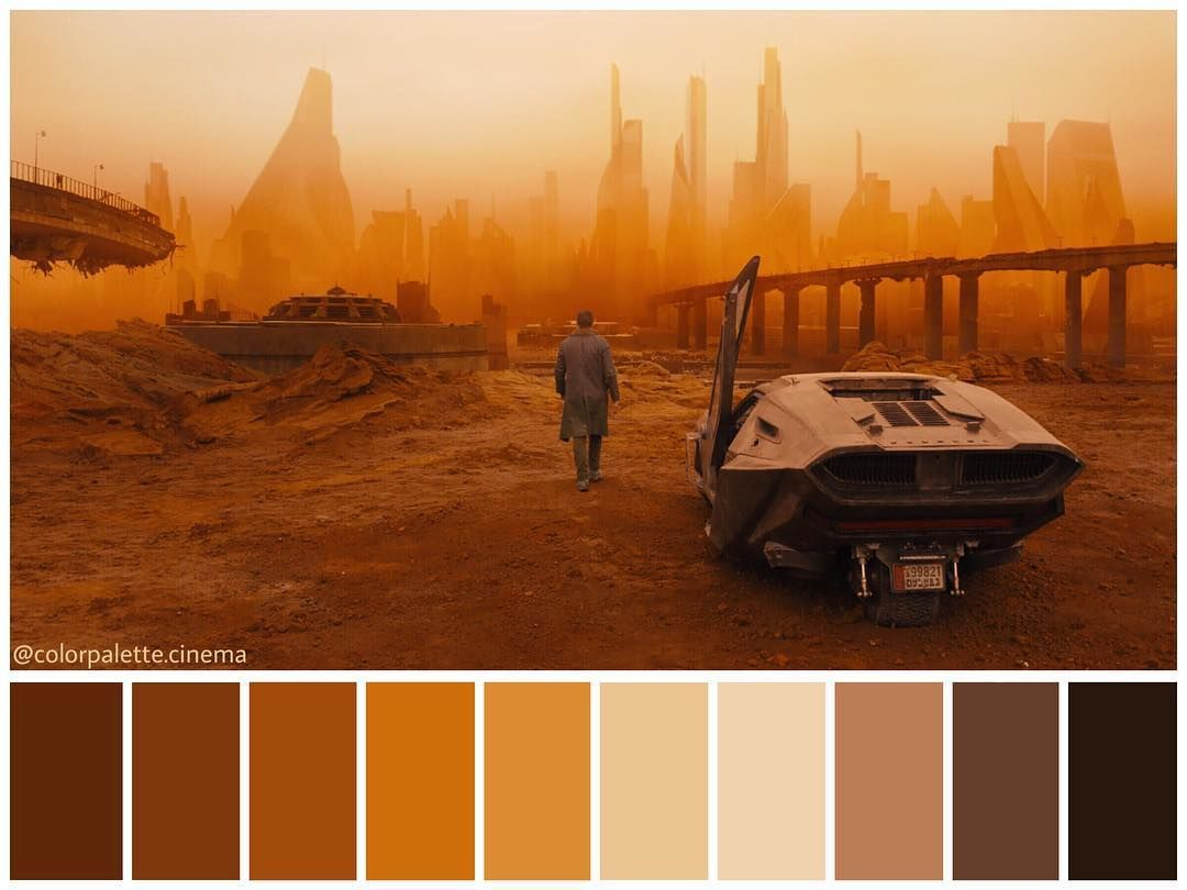 Palette Cad Color Palette (blade Runner 2049). | Images Colour Palette