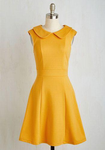 Foxtail Fern Dress in Goldenrod $59.99 AT vintagedancer.com