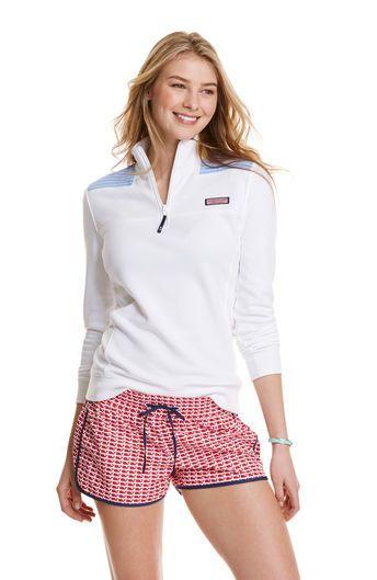 Cotton Stripe Shoulder Shep Shirt