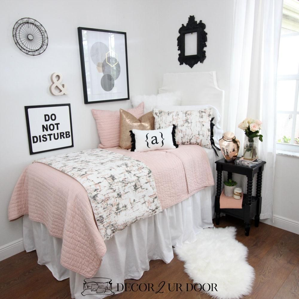 Dormify On Instagram Black White Repeat Cute Dorm Rooms Girls Dorm Room Dorm Room Decor