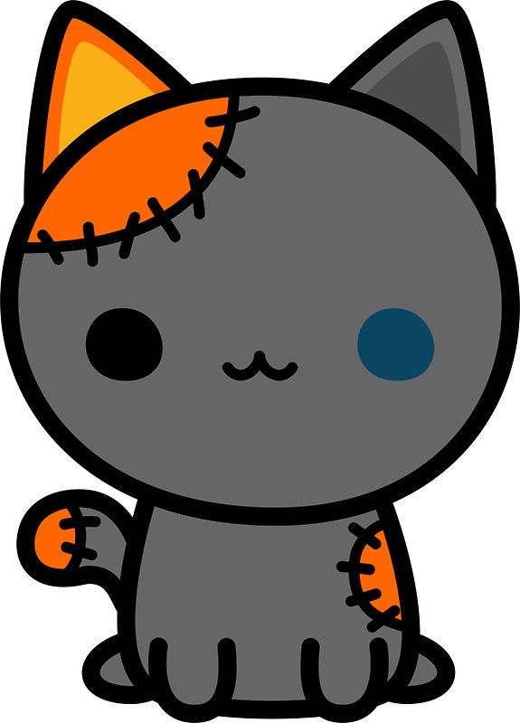 Cute Spooky Kitty Sticker With Images Cute Halloween