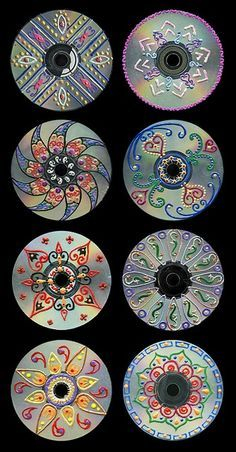 Recycling CDs with Creative Designs by HQcreations, via Flickr String these together to make a window treatment or curtain for a