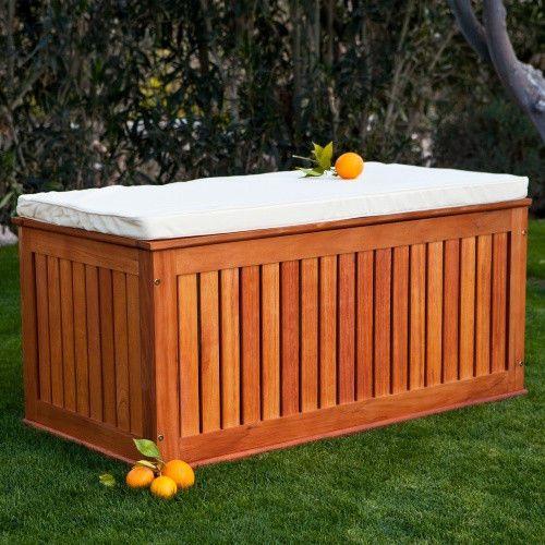 Wood Pool Storage Box Pillow Cushion