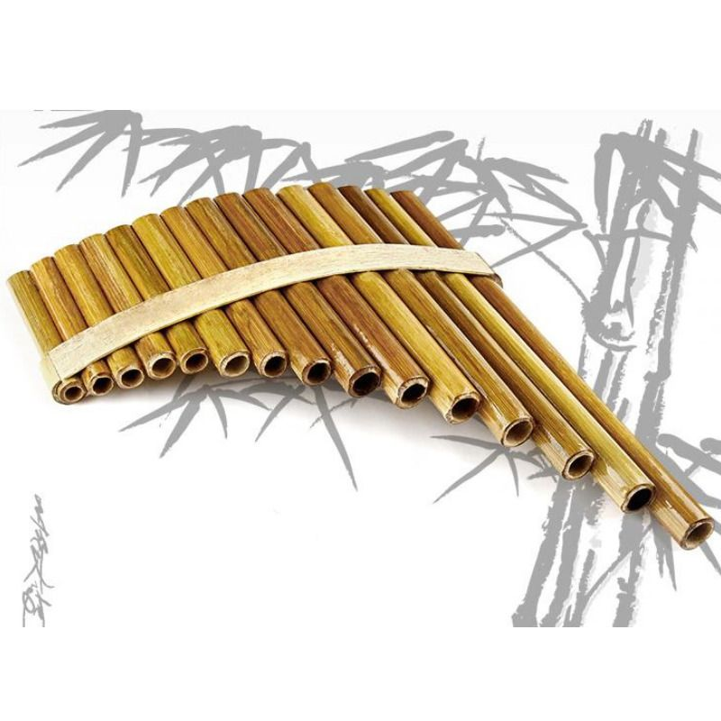 Woodwind Pan Flute Professional Beginner Student 15 Maple Bamboo Pipes Flutes
