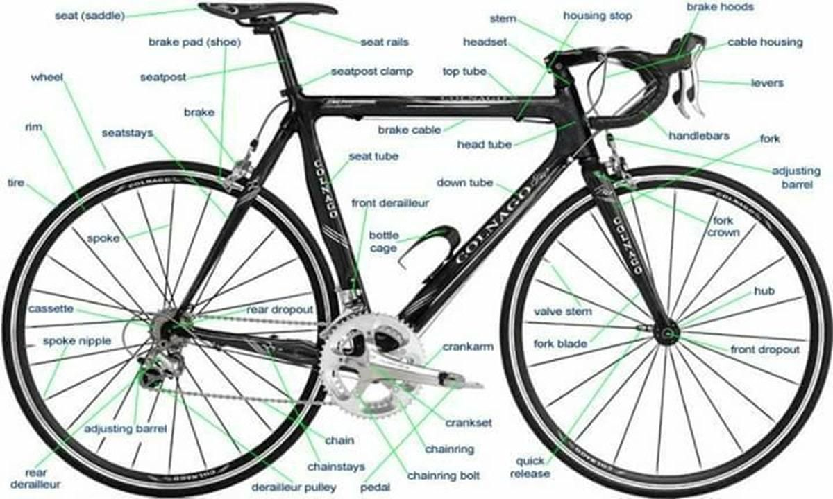 English Vocabulary Different Parts Of A Bicycle Ielts Bike