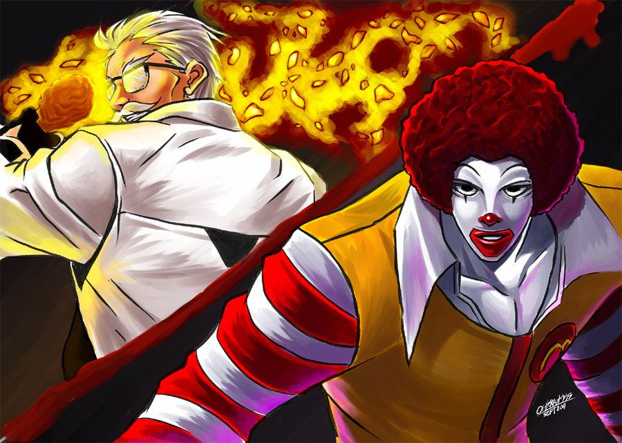 The King Of Fastfoods 2002 Um Colonel X Ronald By Wolfhyde On Deviantart King Of Fighters Art Funny Movies