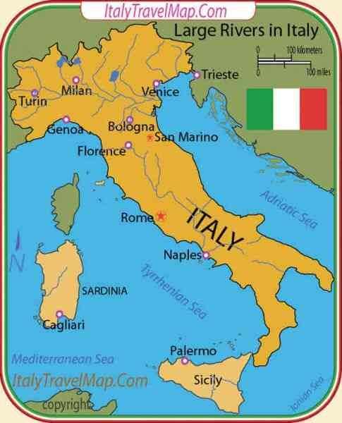 Nice Map Of Rivers In Italy Holidaymapq Pinterest Italy Travel