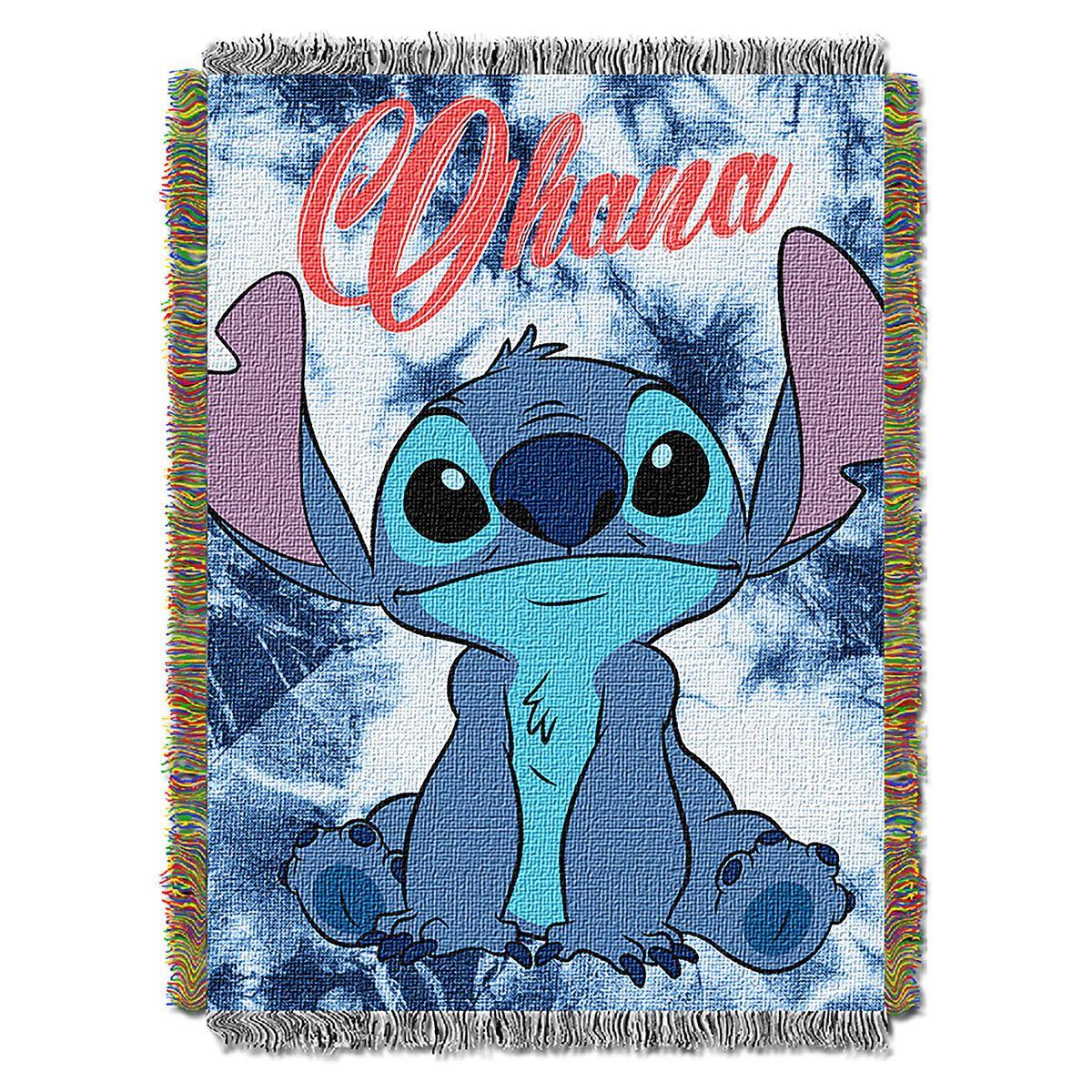 Disney Lilo /& Stitch Watercolor Stitch Throw Blanket