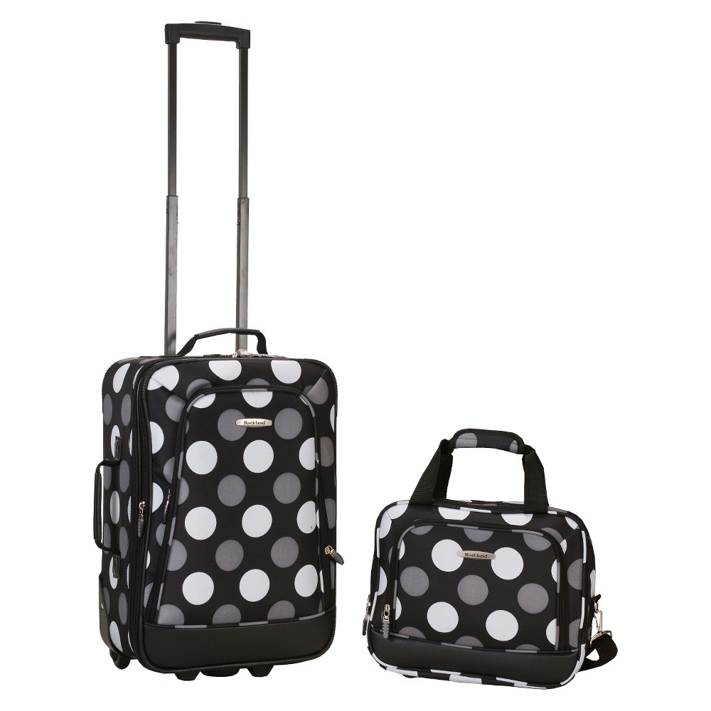 68bc74620be8 Rockland Rio 2pc Carry On Luggage Set - New Black Dot | Products ...