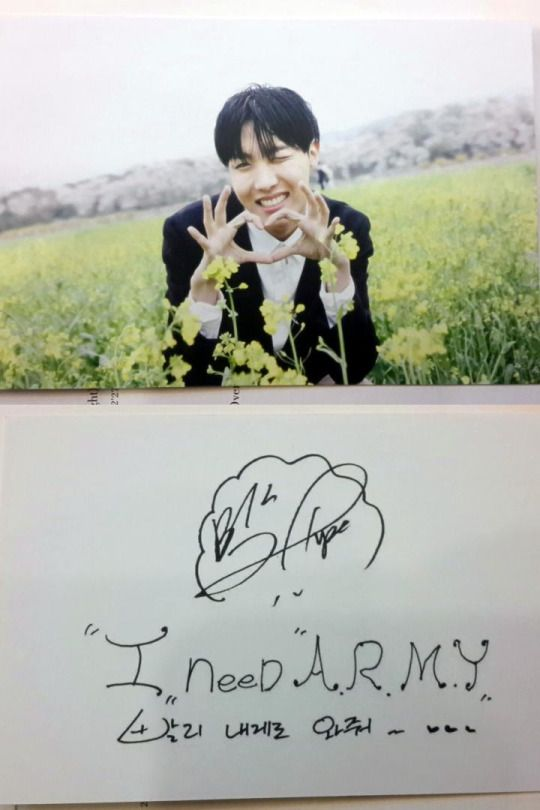 J-HOPE: I need ARMY, please come to me quickly~ ♡♡♡