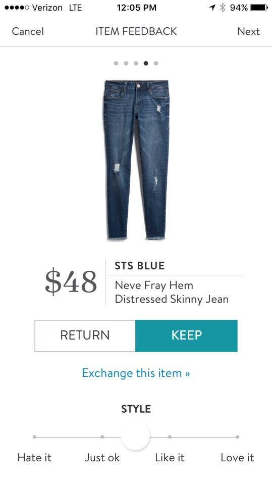 Stitch Fix Neve Fray Hem Distressed Skinny Jean My style - fix my resume
