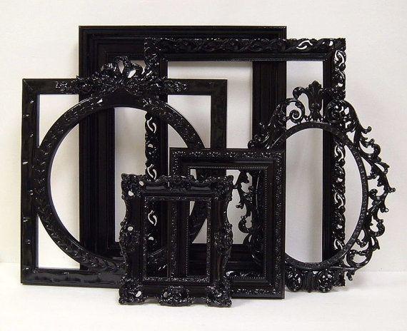 picture frames black shabby chic frames set ornate frames gallery rh pinterest co uk  shabby chic white frame set