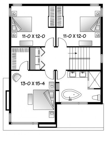 Modelo De Casa De 2 Pisos Y 3 Habitaciones Planos De Casas Planos De Casas Modernas Planos De Casas Disenos De Casas