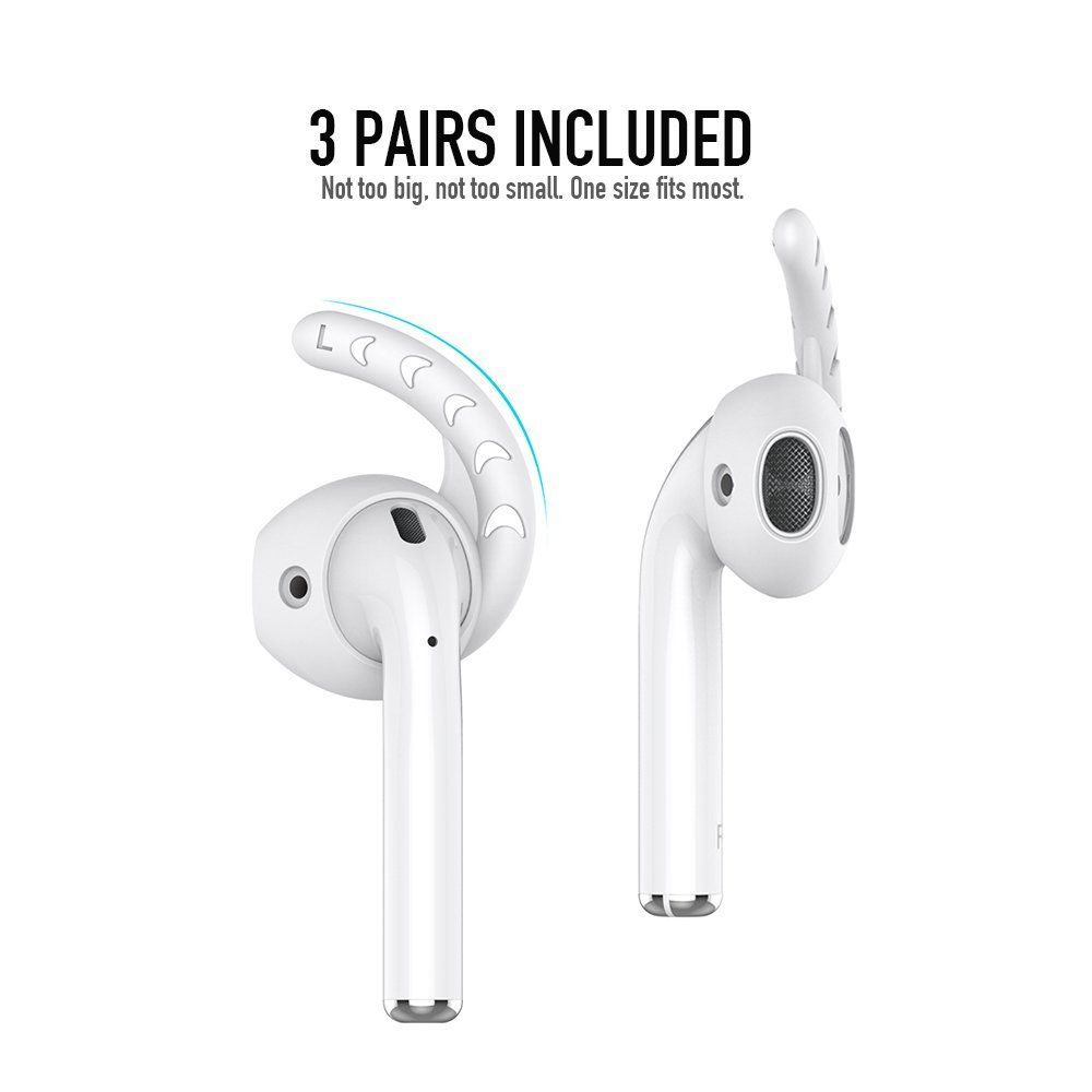 Us 7 99 20 90 Off Feb Only Duszake Replacement Soft Silicone Antislip Ear Cover Hook Earbuds Tips Earphone Silicon Earbuds Soft Silicone Apple Earphones