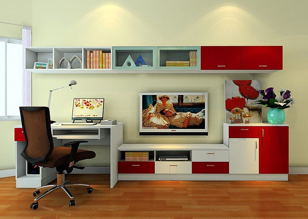 Computer Desk And Tv Stand Combo Google Search Desk Tv Stand Home Tv In Bedroom