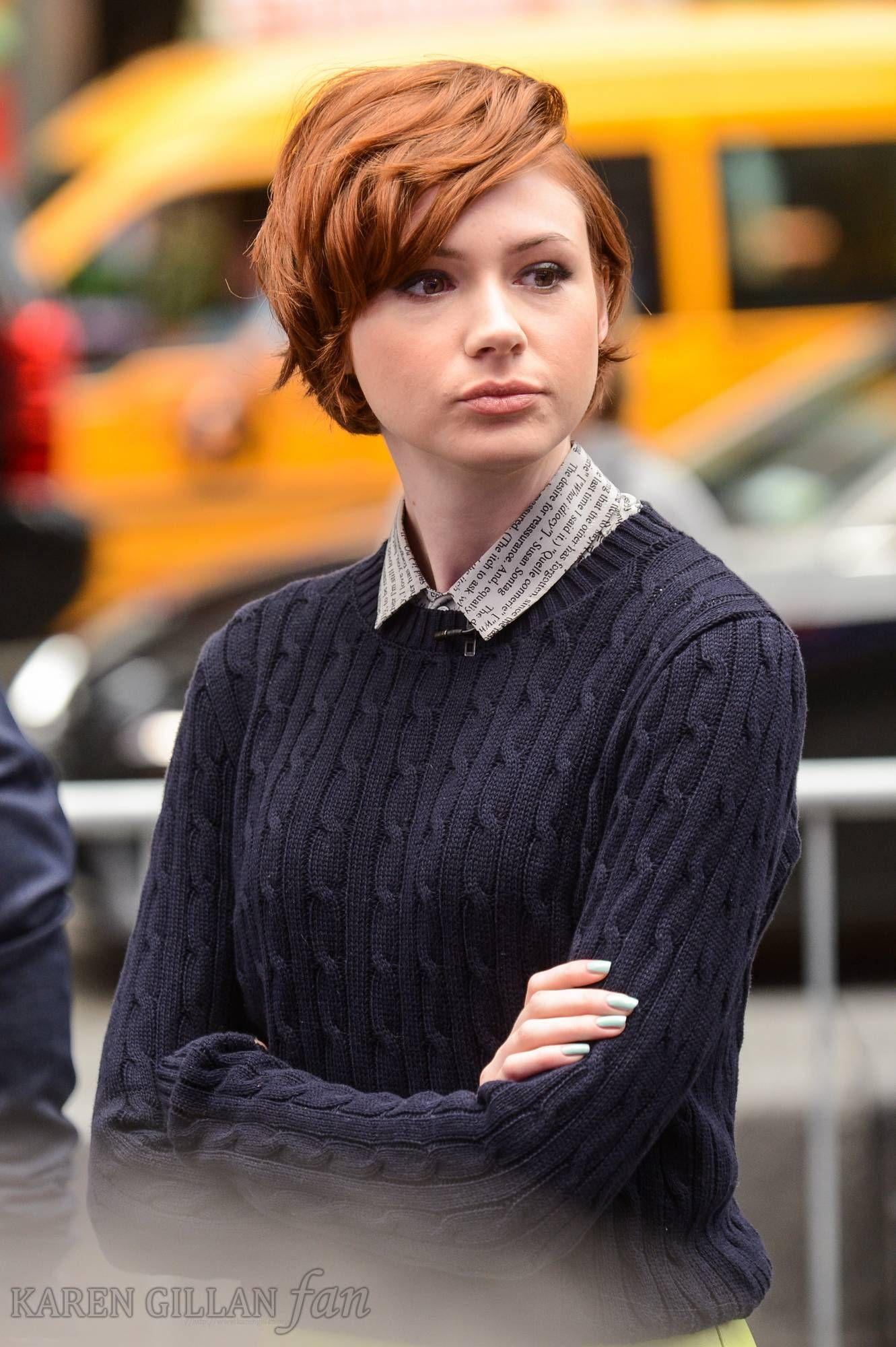 Karen Gillan In 2014 Short Red Hair Short Hair Styles Hair Styles