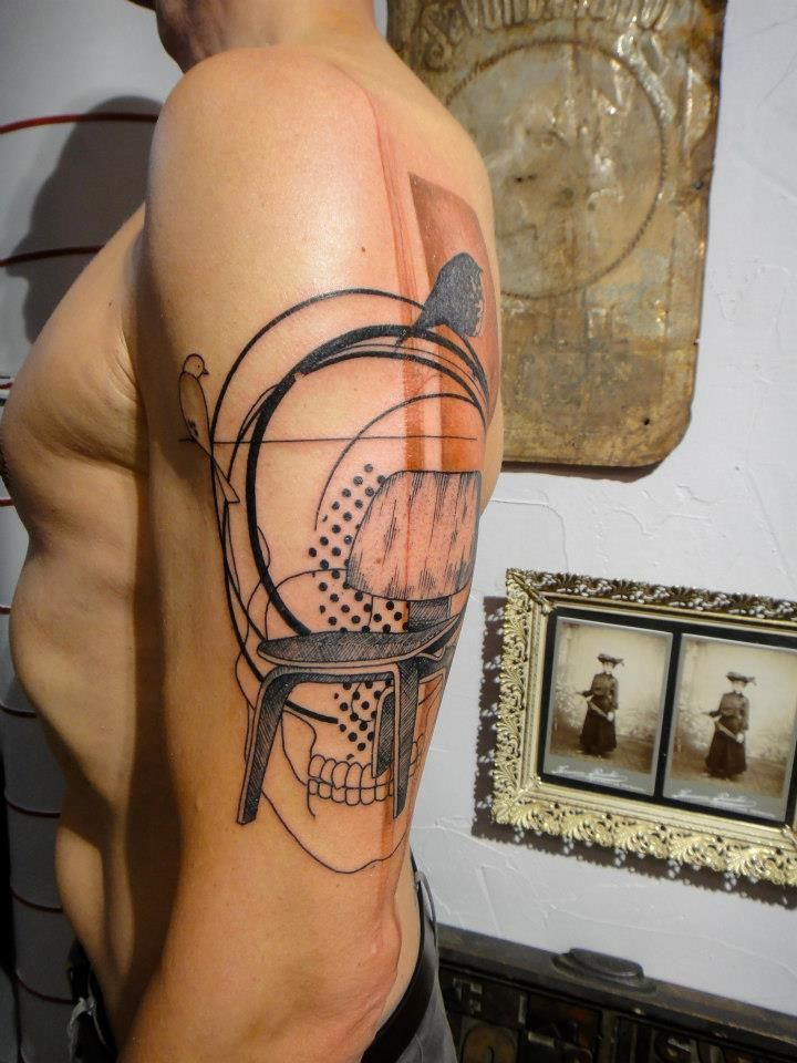 What Does Imgur Think Of This French Style Of Tattooing Called Xoil Sfw Tattoos Modern Tattoos Unique Tattoos
