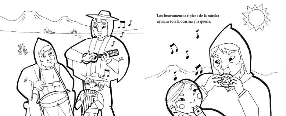 Dibujo De Chilena Para Colorear: Periódico Indígena Ajayu