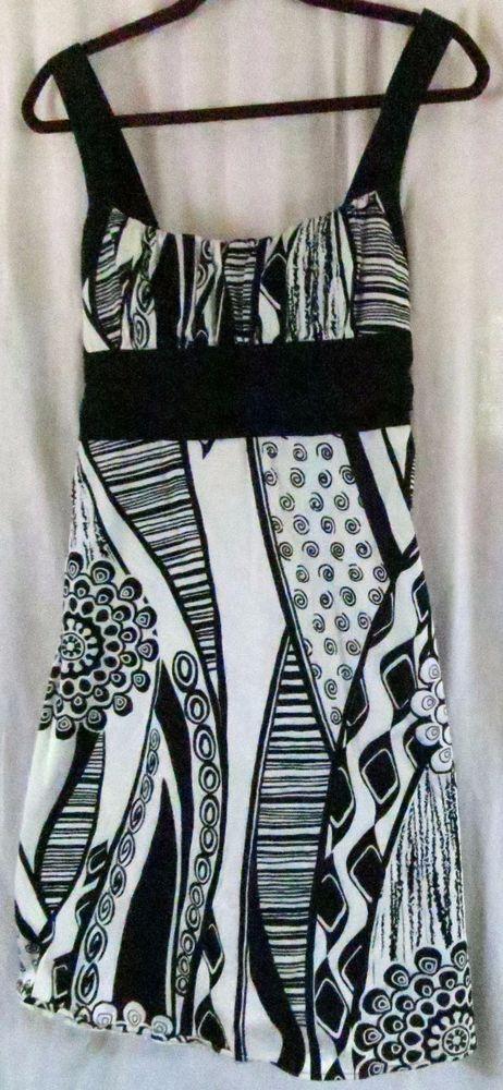 98c0c16638e43 B Smart Dress Straps Black White Empire Waist  BSmart  partydress  Casual